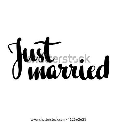 just married hand written