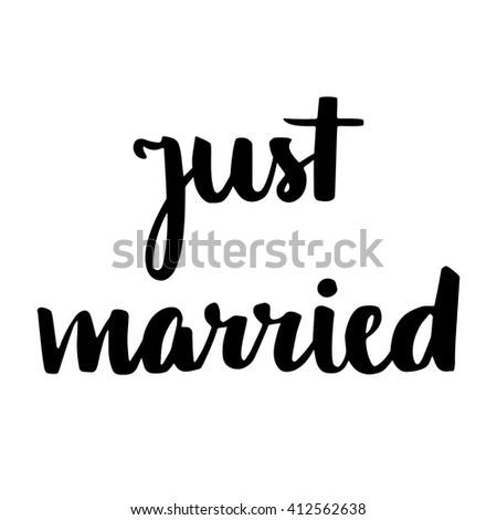 just married hand written