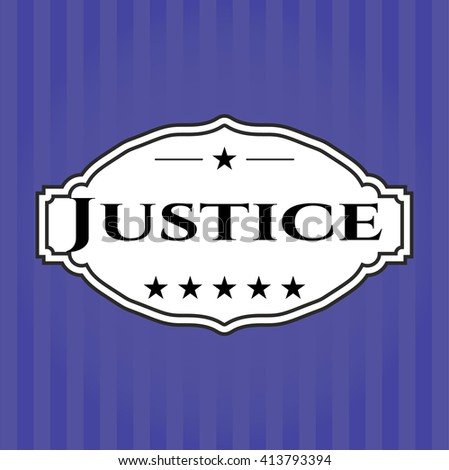 Justice banner or poster