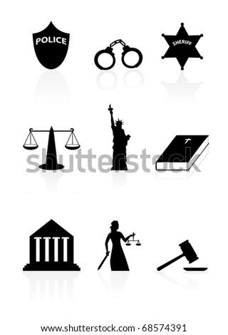 Justice icon set