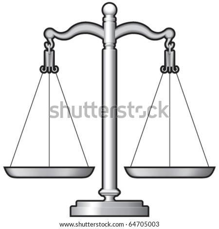 Justice or shop measuring scales
