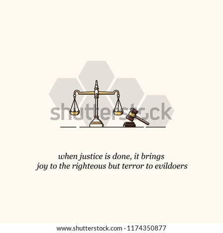 justice scale and hammer with