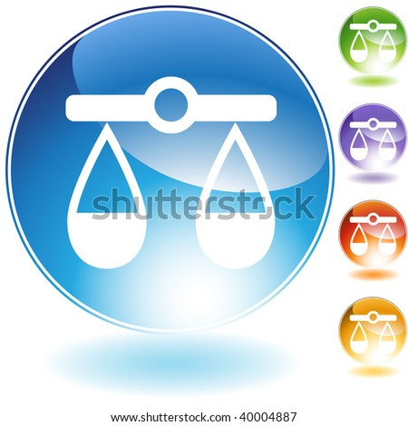 justice scale isolated on a white background. - stock vector