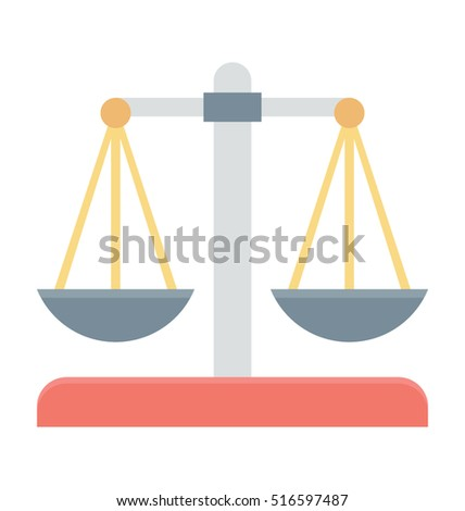 Justice Scale Vector Icon