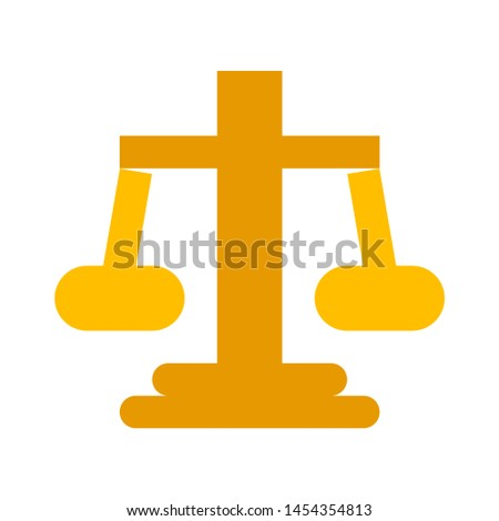 justice scales icon. flat illustration of justice scales. vector icon. justice scales sign symbol