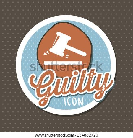 justice seal over brown background. vector illustration