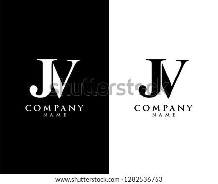 jv/vj initial company name logo template vector Stock fotó ©
