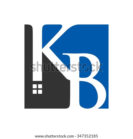 k and b logo vector. home logo vector.