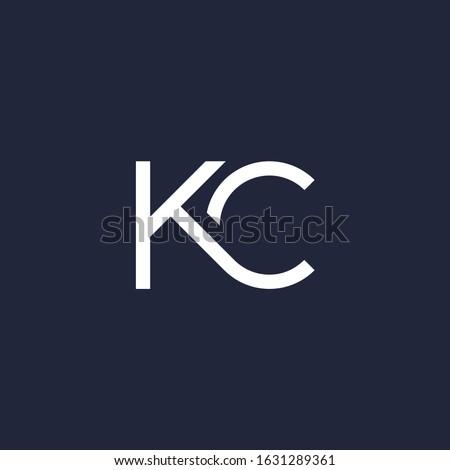 K & C monogram logo.  Stok fotoğraf ©