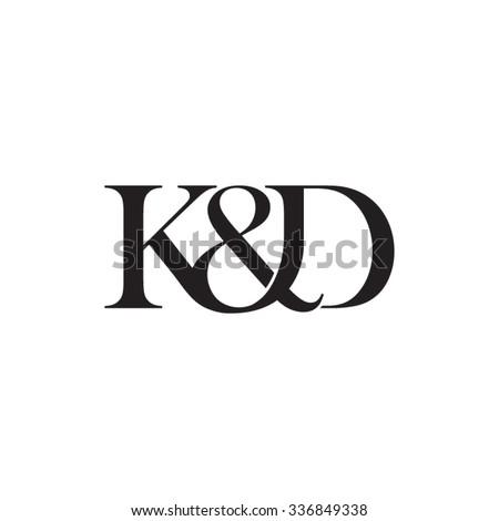 K&D Initial logo. Ampersand monogram logo Stock fotó ©