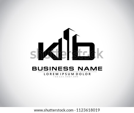 K D Initial logo concept with building template vector. Stock fotó ©