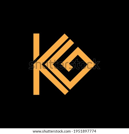 K G letter design logo business vector Stock fotó ©