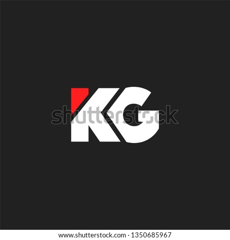 K & G letters Joint logo icon vector template for corporate logo and business card. Stock fotó ©