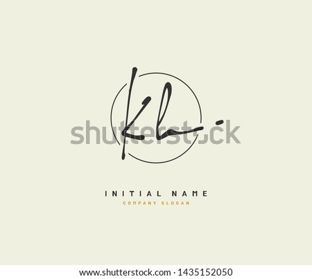 K H KH Beauty vector initial logo, handwriting logo of initial signature, wedding, fashion, jewerly, boutique, floral and botanical with creative template for any company or business. Stock fotó ©
