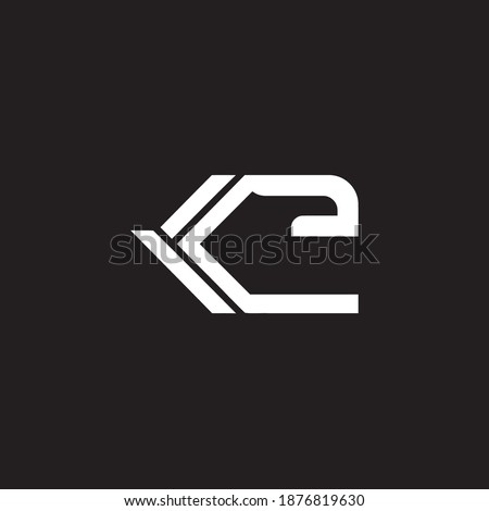 K Letter and E Letter for Company Logo. a Simple Vector Design Stok fotoğraf ©