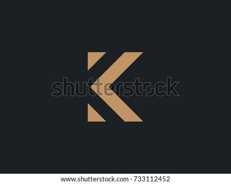 K Letter Logo concept. Creative Minimal emblem design template. Universal elegant icon. Premium business finance logotype. Graphic Alphabet Symbol for Corporate Business Identity. Vector element Stock fotó ©