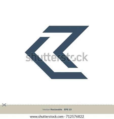 picnetz k letter logo template