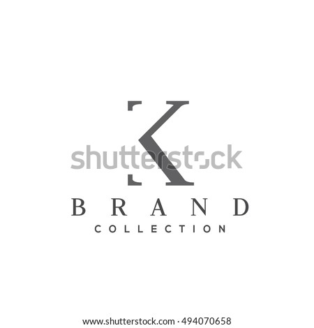 k letter vector logo design