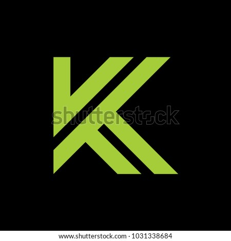 K logo abstract template