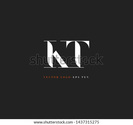 K & T letters Joint logo icon vector for business card and corporate identity. Stok fotoğraf ©