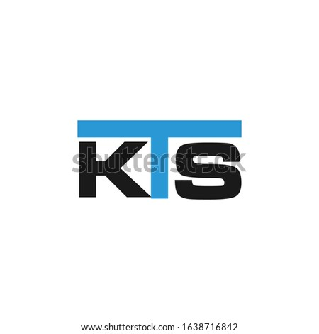 K T S Initial logo template vector, Logo Letter K With S, K T S Logo. Letter Design Vector with Blue and Black Colors. Stock fotó ©
