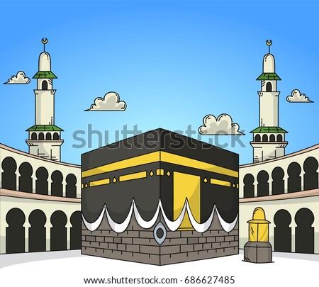 Gambar Kabah Kartun Gambar Islami