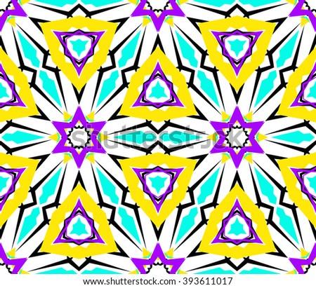 kaleidoscope flower pattern