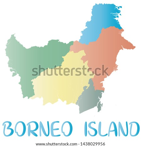 kalimantan island map islands