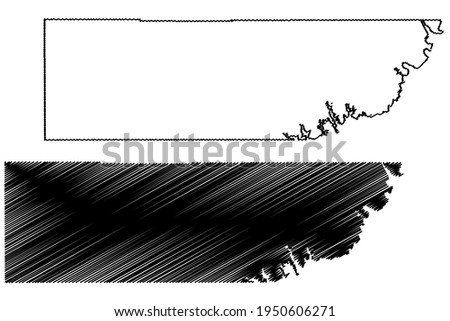 Kane County, State of Utah (U.S. county, United States of America) map vector illustration, scribble sketch Kane map Stock photo ©