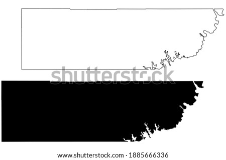 Kane County, State of Utah (U.S. county, United States of America, USA, U.S., US) map vector illustration, scribble sketch Kane map Stock photo ©
