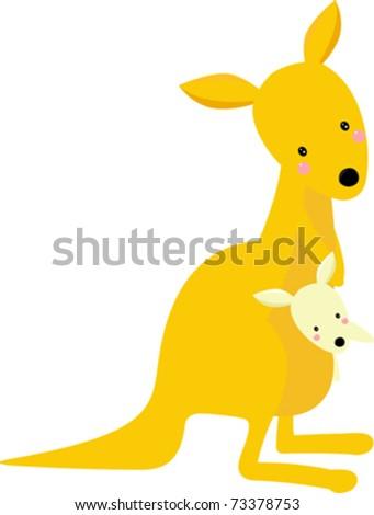 kangaroo and its baby