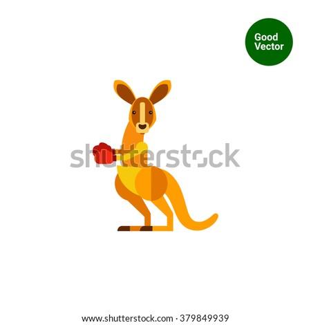 kangaroo boxer icon