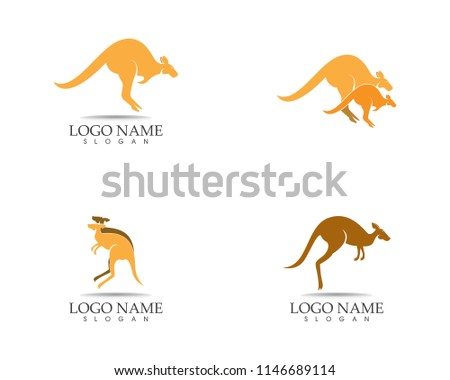 Kangaroo icon logo design vector illustration