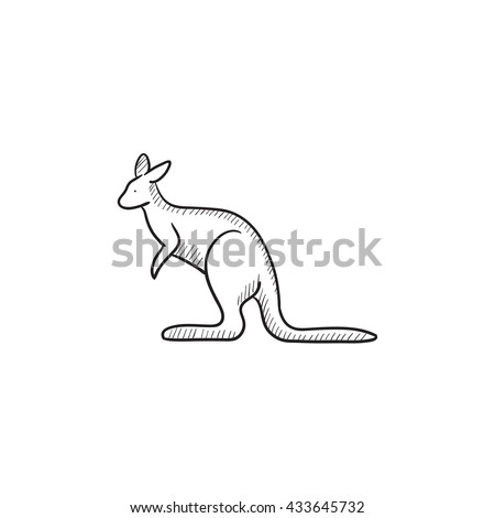 vector images illustrations and cliparts kangaroo vector sketch