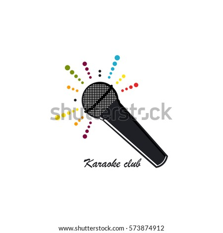 Karaoke club logo template