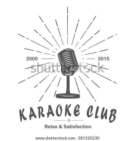 karaoke club microphone retro...