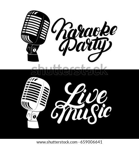 karaoke hand written lettering