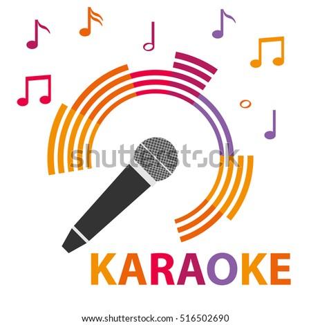 Karaoke icon, karaoke microphone, mic, icon microphone. Flat design, vector.