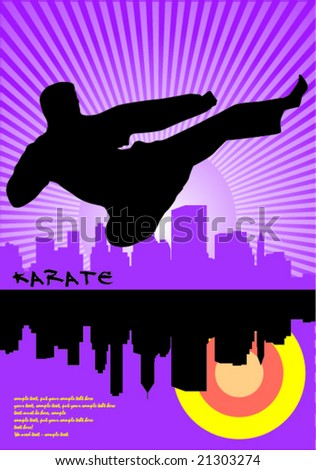 Karate flying kickFlying Karate Kick