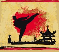 karate Grunge background