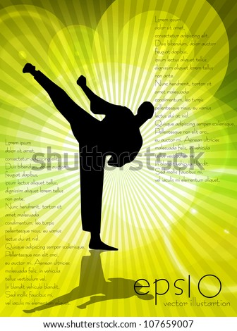 Karate illustration