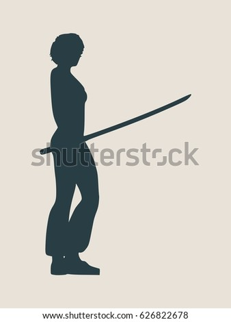 karate martial art silhouette