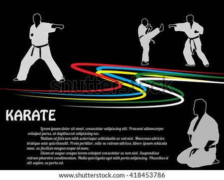 karate poster background with