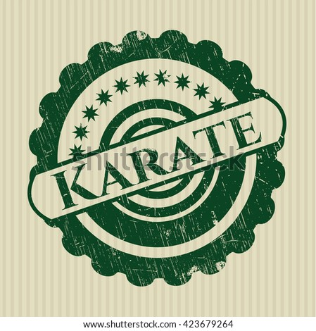 Karate rubber grunge texture seal
