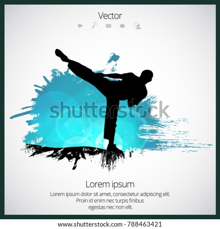 Karate warrior, sport ilustration