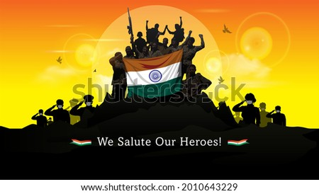 kargil vijay diwas. People remembring and celebrating victory day of indian army
