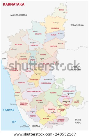 karnataka district map