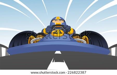 kart racer cartoon illustration
