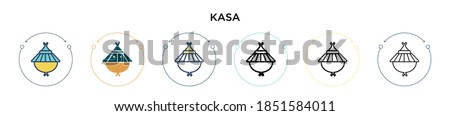 Kasa icon in filled, thin line, outline and stroke style. Vector illustration of two colored and black kasa vector icons designs can be used for mobile, ui, web Zdjęcia stock ©