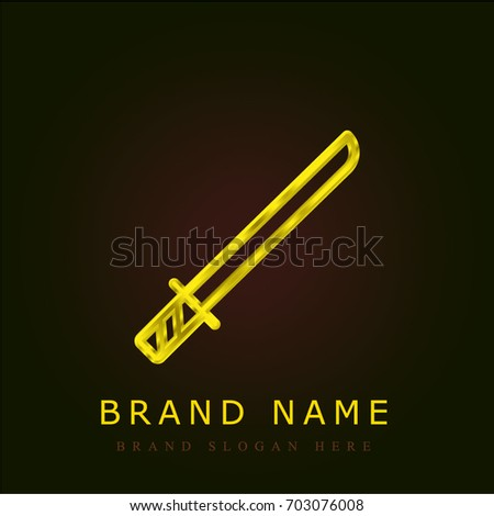 katana golden metallic logo